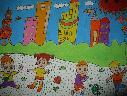 中国梦幼儿获奖绘画