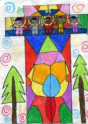 二年级绘画作品图片