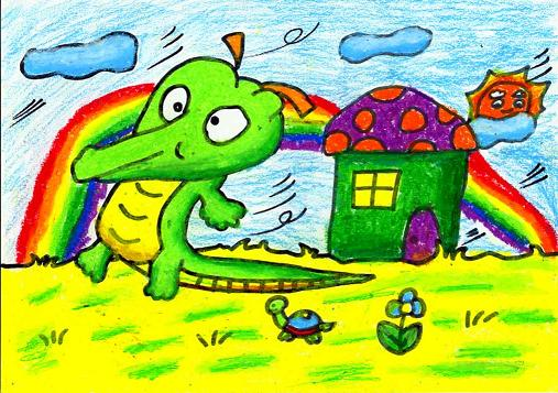 四年级绘画作品集锦图片