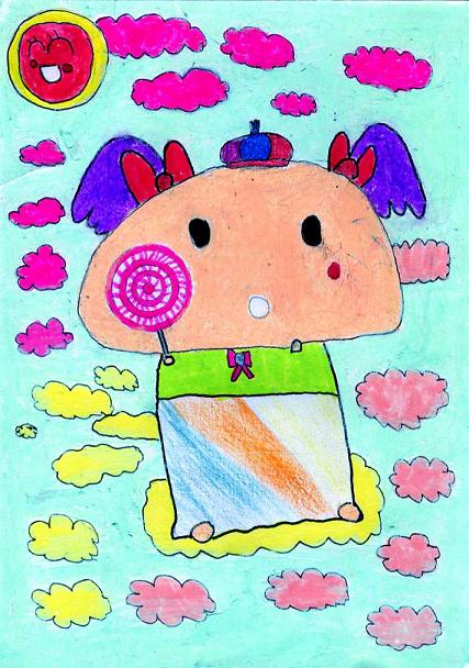 六年级彩铅绘画作品彩铅画作品关于安全美术画小学生