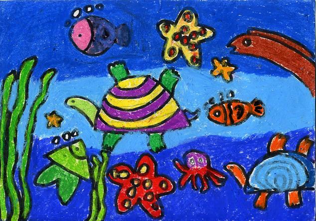 四年级绘画作品