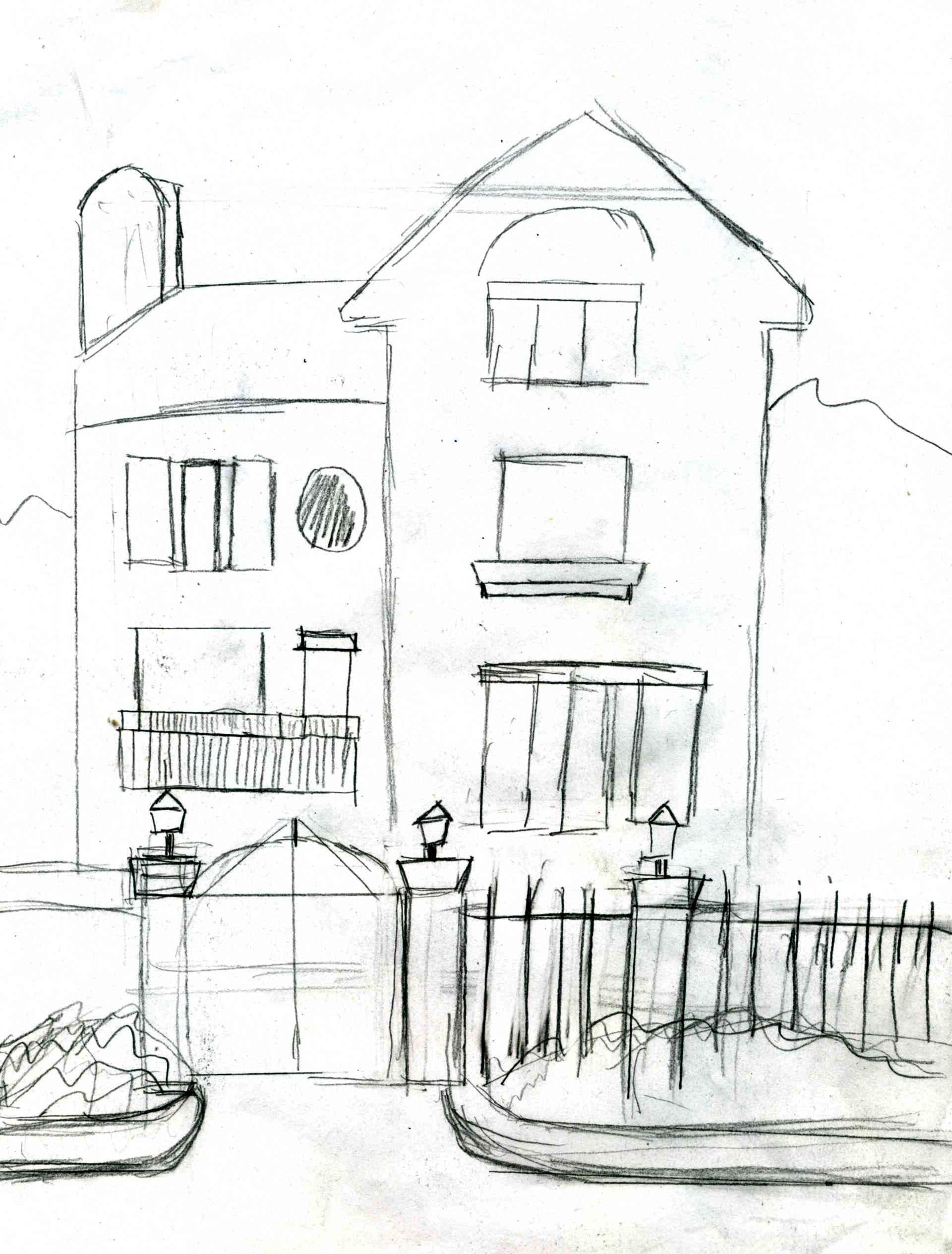 简单建筑速写入门图片